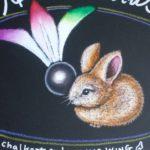 チョークアートでウサギの描き方♪