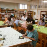 中大江小学校にてチョークアート体験レッスンをしました☆