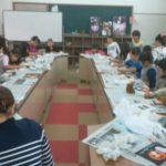 依羅小学校にてチョークアート体験レッスンをしました☆