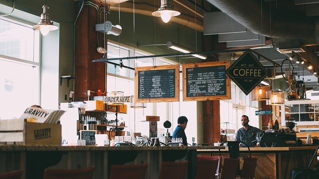 カフェのメニューボード